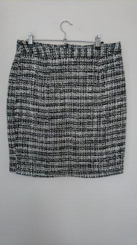 Heine Falda de lana negro-blanco Acrílico