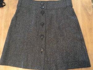 Massimo Dutti Wool Skirt black-white