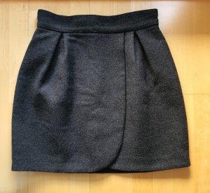 Miu Miu Jupe en laine gris foncé-gris anthracite
