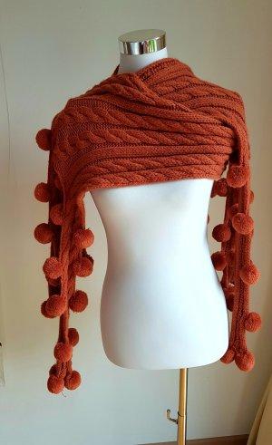 Wollen sjaal roodbruin