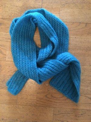 Woolen Scarf neon blue mohair