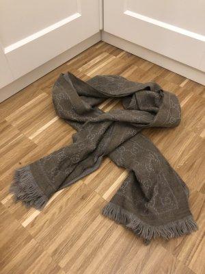 Gucci Sjaal met franjes lichtgrijs-grijs-bruin