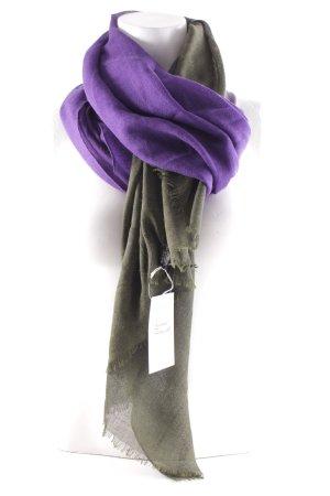 Wollschal dunkelgrün-dunkelviolett Farbverlauf klassischer Stil