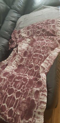 Écharpe en laine or rose-gris clair