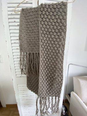 Barts Bufanda de lana marrón grisáceo