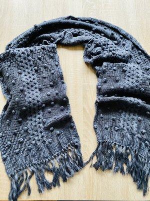 Plus Fine Woolen Scarf dark grey