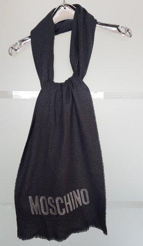 Moschino Milano Sjaal van kasjmier zilver-grijs