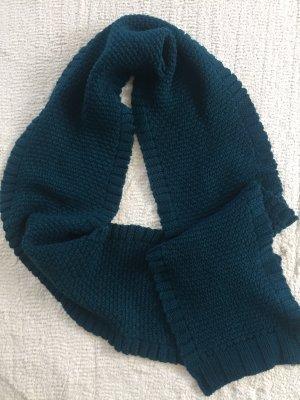 Écharpe en laine bleu pétrole