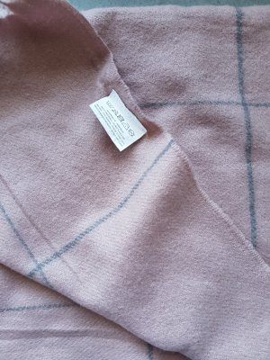 Woolen Scarf light grey-dusky pink
