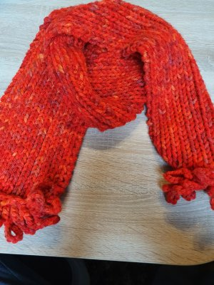 Handmade Bufanda de punto multicolor Lana