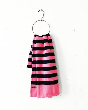 Animal Woolen Scarf pink-dark blue