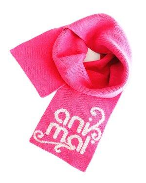Animal Sciarpa di lana rosa-bianco