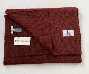 Calvin Klein Jeans Gebreide sjaal karmijn