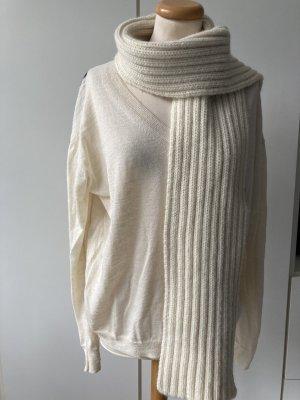 Closed Wełniany szalik w kolorze białej wełny