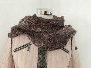 Erfurt Bufanda de lana marrón-blanco puro
