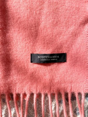 Scotch & Soda Bufanda de lana salmón