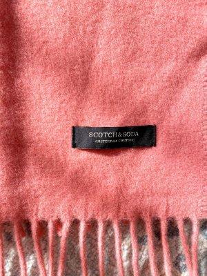 Scotch & Soda Sciarpa di lana salmone