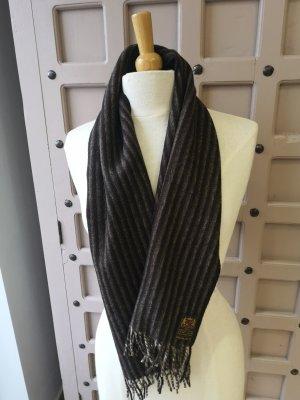 Bufanda de lana marrón claro-marrón oscuro