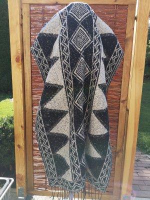 Wollen sjaal zwart-wolwit