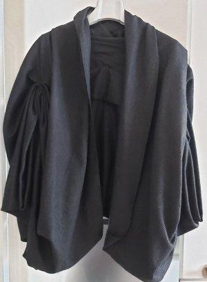 Wełniany sweter czarny-antracyt Tkanina z mieszanych włókien