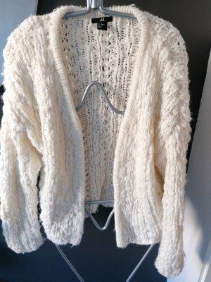 H&MxERDEM Veste tricotée en grosses mailles blanc cassé
