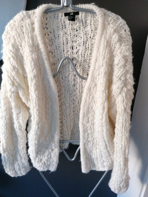 H&MxERDEM Coarse Knitted Jacket natural white