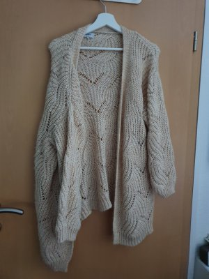 Only Cardigan en crochet brun sable-doré nylon