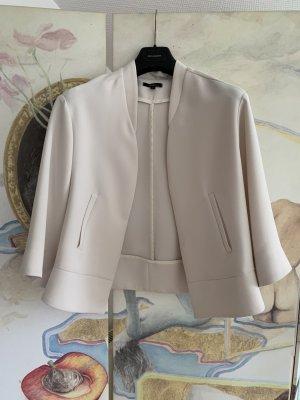 Wollweiße, kurze, verschlußlose Jacke/Blazer*leicht oversized