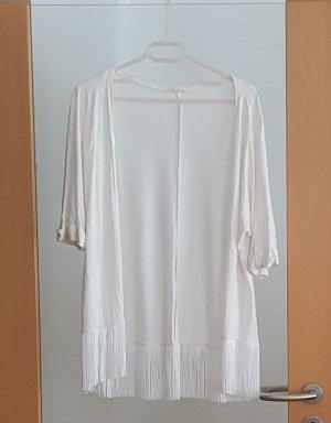 Esprit Fringed Vest natural white