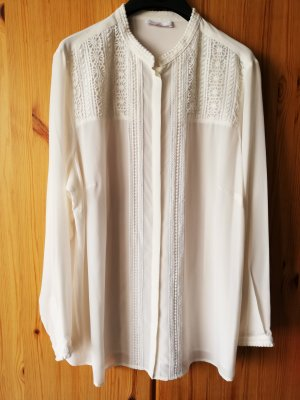 Emilia Lay Silk Blouse natural white