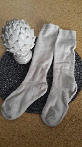 Legwarmers natural white wool