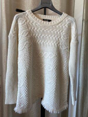 Marc Aurel Coarse Knitted Sweater natural white alpaca wool