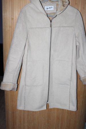 Cappotto con cappuccio bianco sporco