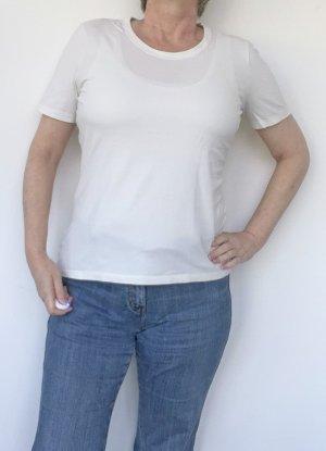 wollweißes Damen T-Shirt, Bio-Baumwolle, Gr. M