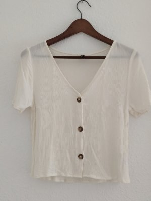 H&M Divided Cropped top wolwit Viscose