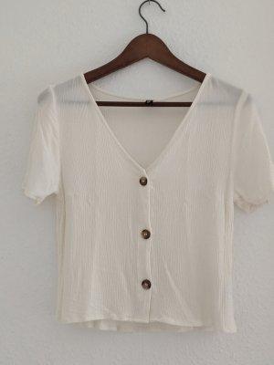 H&M Divided Top corto bianco sporco Viscosa