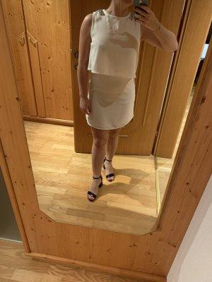 Mango Vestido a media pierna blanco puro-blanco