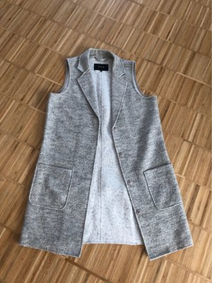 Vila Long Knitted Vest light grey