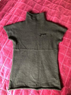 Cinque Knitted Vest black angora wool