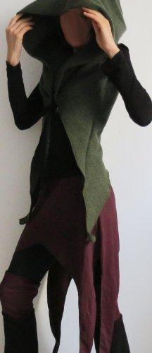 Veste en laine vert foncé-vert forêt laine