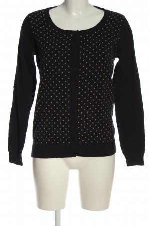 Woman by Tchibo Cardigan schwarz-creme Punktemuster Casual-Look