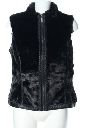 Woman by Tchibo Futrzana kamizelka czarny W stylu casual