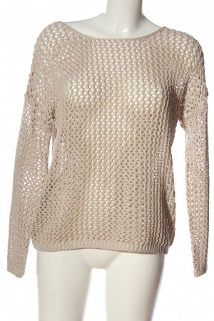 Woman by Tchibo Häkelpullover creme Zopfmuster Casual-Look