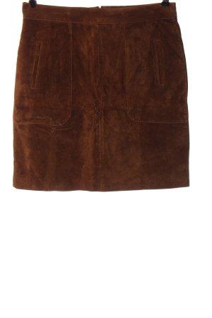 Woman by Tchibo Skórzana spódnica brązowy W stylu casual