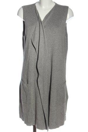 Woman by Tchibo Gilet long tricoté gris clair style décontracté