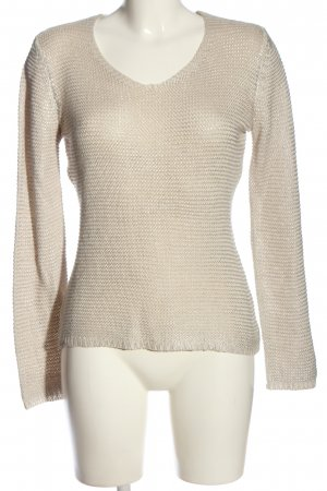 Woman by Tchibo Rundhalspullover silberfarben-creme Casual-Look