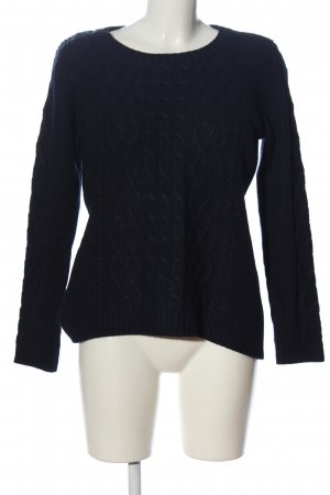 Woman by Tchibo Rundhalspullover blau grafisches Muster Casual-Look