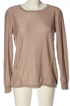 Woman by Tchibo Rundhalspullover nude-silberfarben Zopfmuster Casual-Look