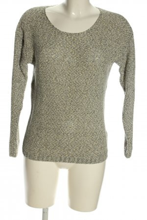 Woman by Tchibo Rundhalspullover creme-hellgrau Allover-Druck Casual-Look