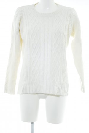 Woman by Tchibo Rundhalspullover creme Casual-Look
